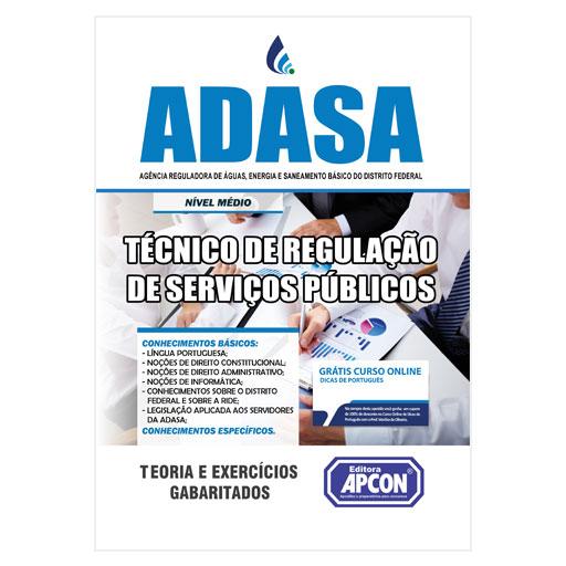 Apostila ADASA (DF) 2020 - Técnico de Regulação de Serviços Públicos