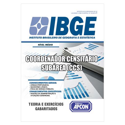 Apostila IBGE - Coordenador Censitário Subárea (CCS) - 2019