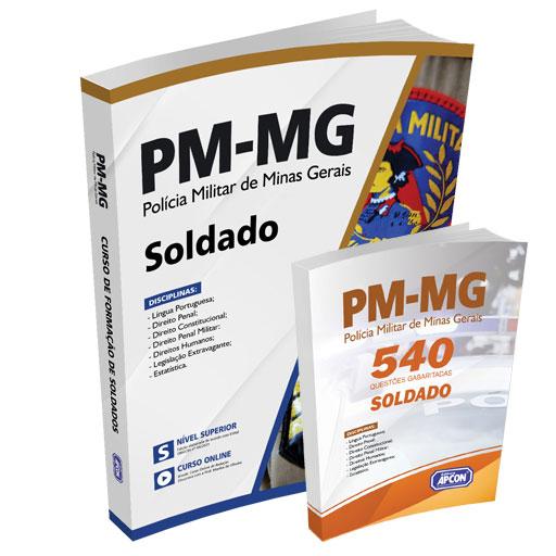 Apostila PM-MG 2021 - Soldado + Caderno de Exercícios PM-MG - 540 Questões