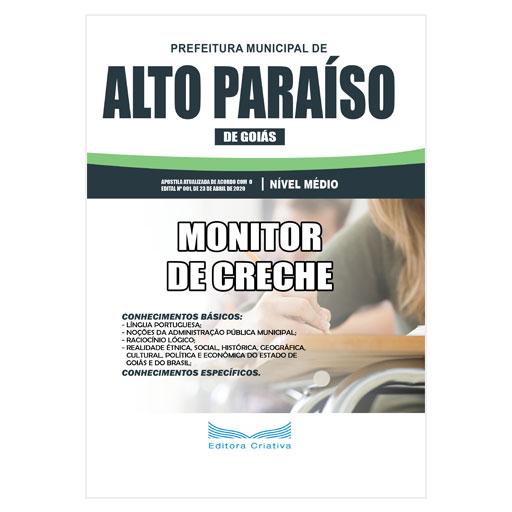 Apostila Pref. Alto Paraíso de Goiás 2020 - Monitor de Creche