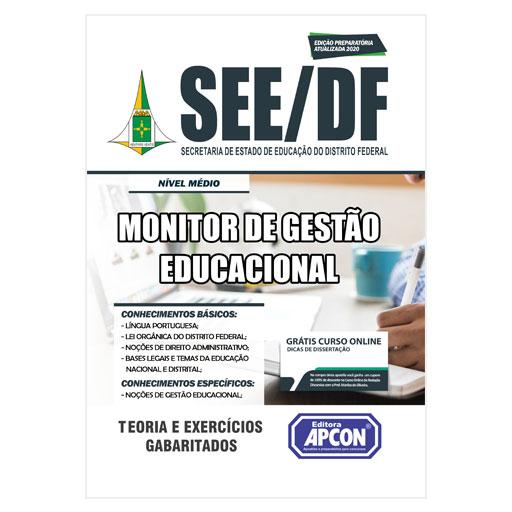 Apostila SEE-DF 2020 - Monitor de Gestão Educacional