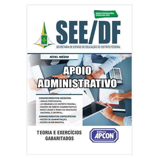 Apostila SEE-DF Apoio Administrativo - 2019
