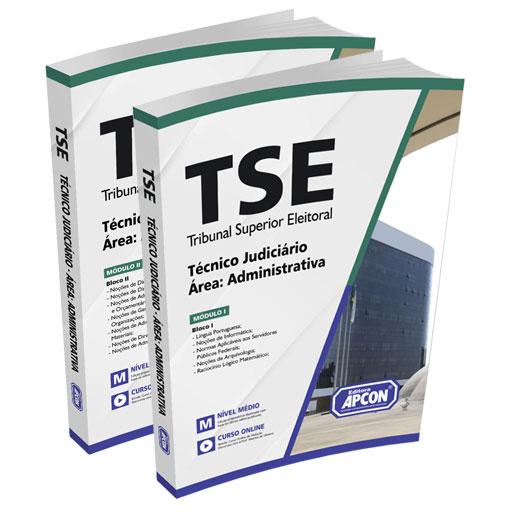 Apostila TSE 2021 - Técnico Judiciário - Área de Atividade: Administrativa