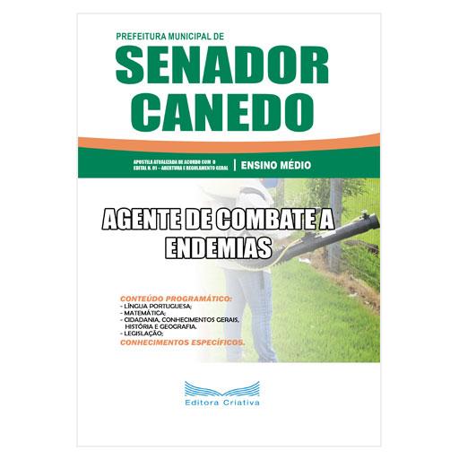 Apostila Pref. Senador Canedo-GO - Agente de Combate a Endemias - 2019