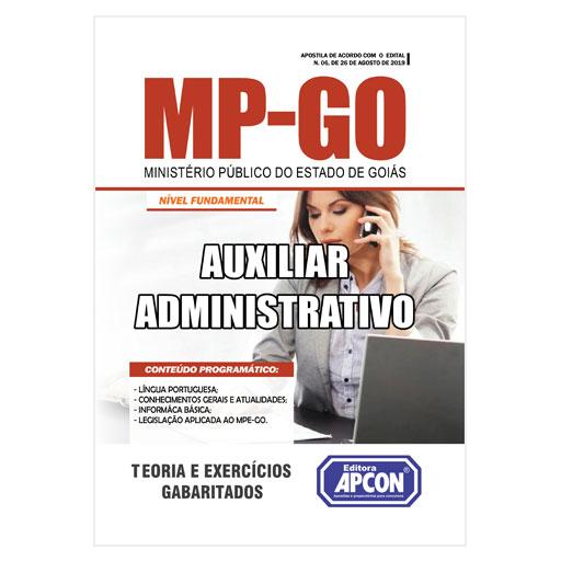 Apostila MP-GO - Auxiliar Administrativo - 2019