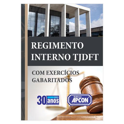 Livro Regimento Interno TJDFT - Com Questões Gabaritadas